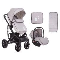 Carro Beloved 3 en 1 Transformable Gris