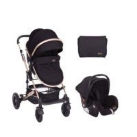 Carro Amaia 3 en 1 Transformable Negro